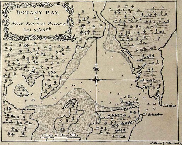 botany bay australia map