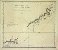 Chart of Part of the Coast of New South Wales, from Cape Tribulation to the Endeavour Straits, by Lieut. J. Cook