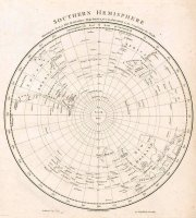 Southern hemisphere: shewing the track of his Majesties ship Sirius from the Equator to the compleating the circle