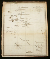 Chart of part of the Fegee ( Fiji ) Islands explored by Cap James Wilson, in the ship Duff…