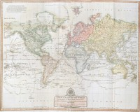 A new chart of the world on Wright's or Mercator's projection in which are exhibited…