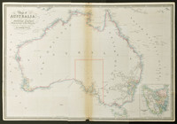 Map of Australia, compiled from the nautical surveys made by order of the admiralty and other Authentic Documents by James Wyld Geographer to the Queen