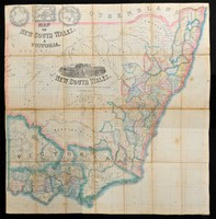 Map of New South Wales & Victoria